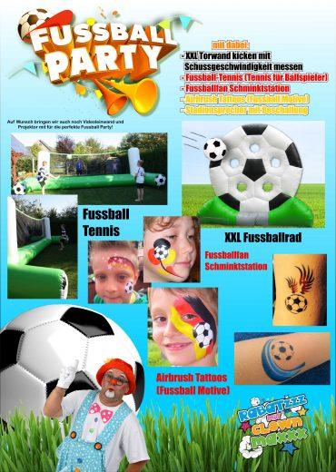 Mottoparty Fußball WM-Party für Kids