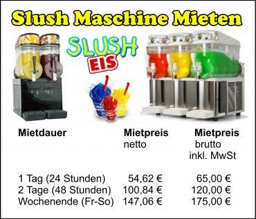 Slush Maschine Mieten